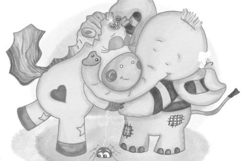 Enie und Pumbo umarmen sich sw