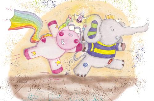 Enie und Pumbo: Die Hauptfiguren des ersten Bandes unserer beliebten Kinderbuchserie aus Österreich.
