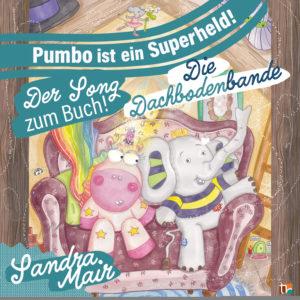"""Kinderlieder unserer CD mit 7 bunten Songs passend zur Geschichte von Band 1 und Band 2 unserer Kinderbuch-Serie """"Die Dachbodenbande"""""""