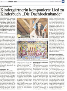 Zeitungsbericht über unsere Kinderlieder-CD